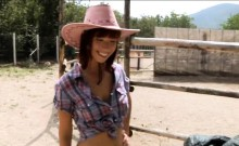 Tina Hot fucked in the ranch for money