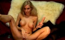Blonde Loves her Huge Dildos