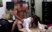 Bitchy Blonde Business woman gets a hardcore sex action