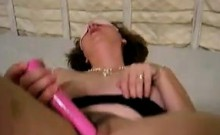 Chubby Mother Enjoys A Toy In Her Hairy Pussy