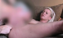 Nice ass busty blonde in casting