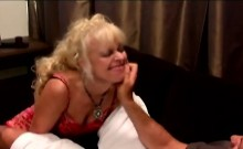 Naughty blonde cougar loses her mind with a younger dick