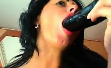 Nasty Russian Double Penetrates Herself