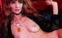 graceful flexible babe with hairy clit