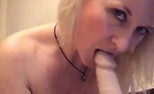 Busty Blonde Cam Whore With A Dildo