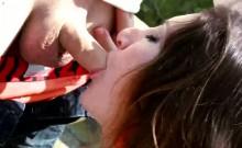 Gypsy girlfriend outdoor flirting