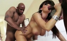 Ebony stunner Harley Dean fucked and facialed by a huge dick