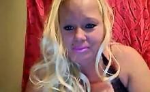 Fat Blonde Chick Smokes