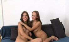 Hot threesome on casting interview