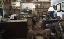 Kinky wifey gets pounded by pawn keeper at the pawnshop