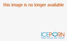 Brunette in lingerie enjoying solo