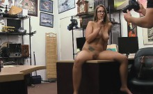 Big Titty Layla London Playing With Cigar In A Pawn Shop