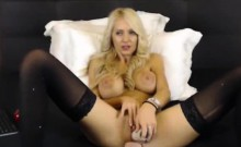 Hot Blonde Webcam Girl Teases Her Pussy