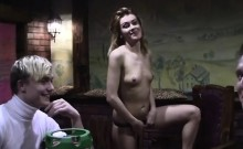 Russian chick undress in public