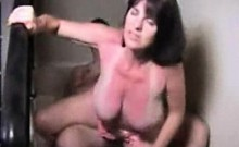 Loose breasts wife drilled about the steps