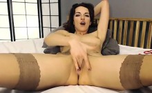 Masturbating her pussy that is tight on camera