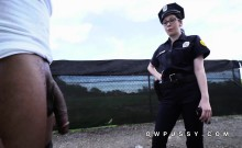Two female cops arrest big cock black