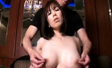 Hot mom has a kinky boy sensually caressing and kissing her