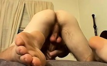 Scottie wanked to the limit he pumps the cum from his balls