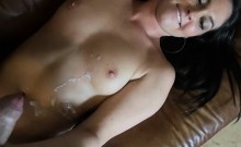 Cute GF Gets Fucked And Cum Sprayed By BF
