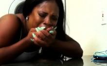 Black Ex Girlfriend Lessy DeVoe Fucked On Laundry Room Floor