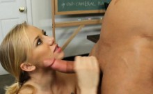 Hot Blonde Fucked Hard On Desk Tracey Sweet