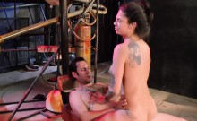 Hot tattooed Bonnie Rotten fucked rough by nasty man