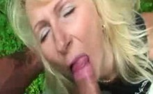 Blonde Saida Sinner sitting on a big cock
