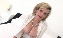 Unfaithful British Mature Gill Ellis Showcases Her Heavy Boo