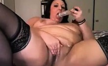 Busty BBW Treasure Toying Her Pussy
