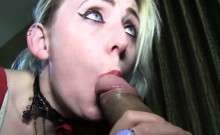 Lily Lovecraft gags sub on monster dominican BBC