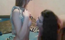 Sexy Teens Undressing and Kissing On Webcam