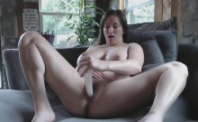 Super Busty Cougar Squirts After Hardcore Toying