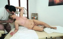 Lusty granny Jennyfer takes rock hard dick in her asshole