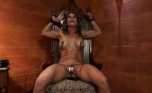 Hot lesbians enjoy some BDSM pleasures