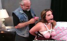 Jennifer in BDSM roping