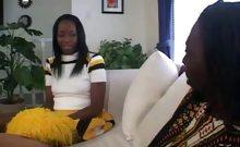 Ebony Cheerleader Sucking of a Wang