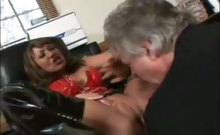 Busty Mature In Lingerie Enjoys Oral
