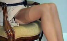 Pink Panties And Sexy Stockings