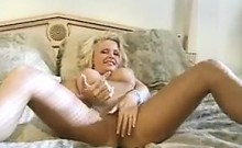 Blonde Cougar Masturbating With Her Toy
