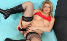 Jitule does a mother solo action with a dark adult toy