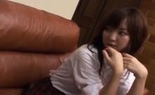 Subtitled CFNM bored Japanese schoolgirl with horny boyfrien