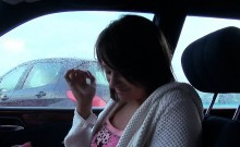 Hairy Czech girl pussy nailed in the car