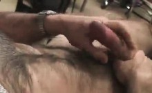 Horny jock plays with his big stiff cock