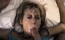 Hot chick wants his cum on her face badly