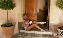 Danielle Maye In Cute Socks