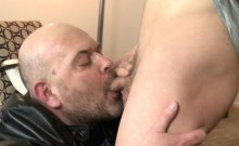 Amateur euro twink cocksucked by mature trick