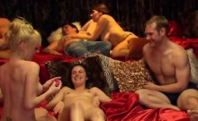 Horny couples having lots of fun in swinger orgy