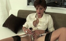 Unfaithful english milf lady sonia shows her big balloons