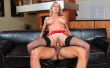 Hot Blonde MILF In Sexy Red Lingerie Brandi Love